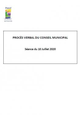 PV CM - Séance du 10 Juillet 2020